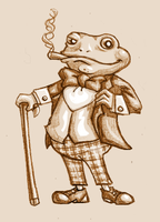 Mr. Toad by kittychasesquirrels