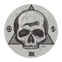 Mystic symbol skull by snikers15