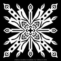Solstice Candles Snowflake C1 by Eolhin