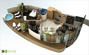 3d Floor Plan by 3drendering