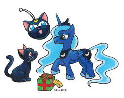 A Present For Luna by sakkysa