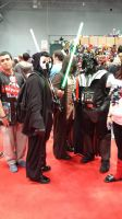 NYCC 2014 - Jedi and Sith Cosplay Together by DestinyDecade