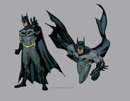 Batman Costume Design Colors by StephaneRoux