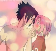 sasusaku_just a kiss by bonana-chan