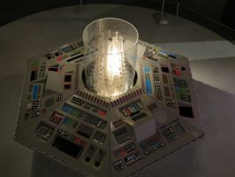 doctor who props and sets cardiff tardis top view by Sceptre63