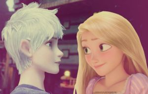 Jack Frost/Rapunzel :33 by angeelous-dc