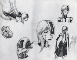GlaDos Character Sheet by foxy-chan22