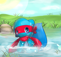 By the river by Kirethewolf