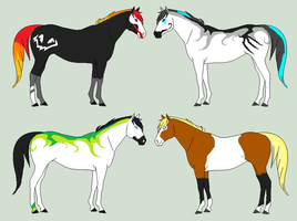 Odd Horse Adopts - CLOSED by Sapphira-Page