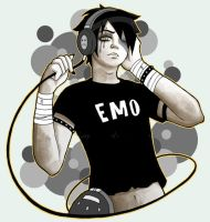 Headphone emo by DeadpoolvsSpawn