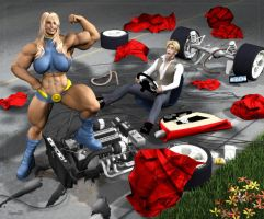 O Girl vs Bad Driver by Stone3D by Dru1076