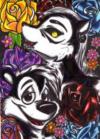 Spec and Pepe Le Pew by Metalwolff