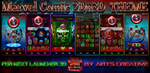 NEXT LAUNCHER 3D THEME Marvel Comic 2Dn3D by ArtsCreativeGroup