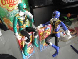 gokai green, gokai blue by Sati-Chan-Meown