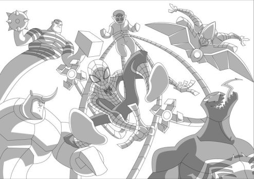 Spidey and Foes by Apollorising