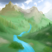 Mountains by blayzeon