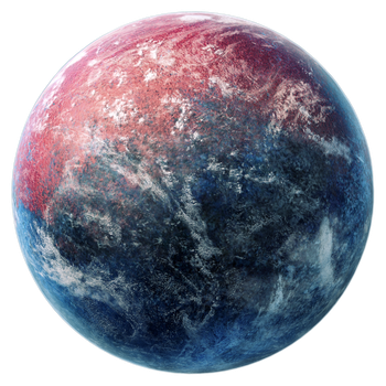 Red and blue planet stock by dadrian