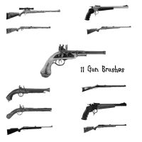 11 Gun PS Brushes by Spyderwitch