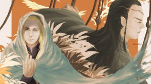 Elrond thranduil by royacc