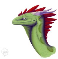 Dragon Paint Bust by Opkluu