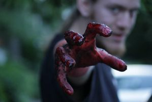 Reaching With Blood by GroovyDrewV