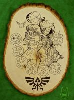 Zelda Wood Plaque Art (Tutorial) by studioofmm
