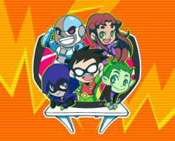 The Teen Titans by Aly434