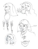 Faces - angled and braid by Diana-Huang