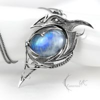 DRACO VINTIARTH - silver and moonstone by LUNARIEEN