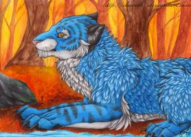 Blue Tiger commission by Eleweth