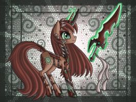 Demon Hunter Kitsu pony by raptor007