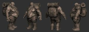 Tough Dwarf WIP Zbrush by ivilai