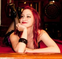 Smile on the pool table by ElektraSaintClaire