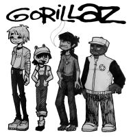 Gorillaz Group Shot by Boogily