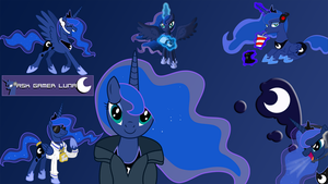 Gamer Luna poster by watermane2000
