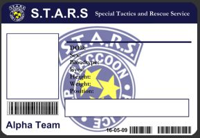 S.T.A.R.S ID Card Template by J-J-Joker