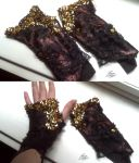 Autumn Fae Finger-less Gloves by MissJamieBrown