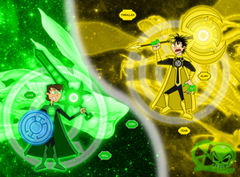 Green vs Yellow: Ion vs Parallax by skull1045fox