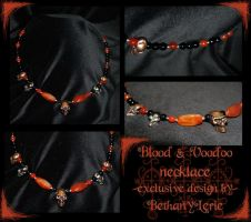 Blood and Voodoo necklace by redLillith