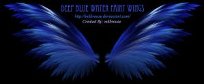 Deep Blue Water Fairy Wings - Fractal by mkbrouse