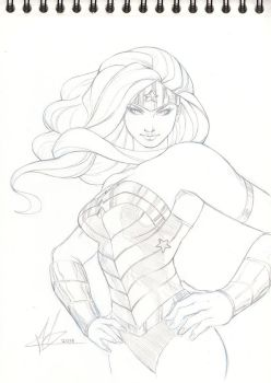 Wonder Woman Pencil Commission by Marc-F-Huizinga