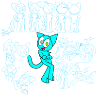 Sonic the Cat model sheet by kitopia
