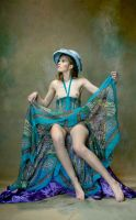 Coquette in turquoise by JREKAS