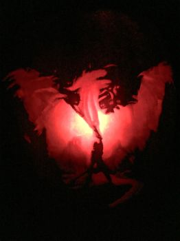 Dragon Age Inquistion Pumpkin Carving by Misformac