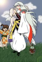 Sesshomaru and Company by macswake