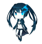 Black Rock Shooter Chibi by deliciosaBerry