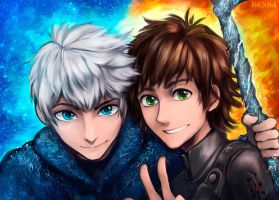 Jack and Hiccup by Dessa-nya