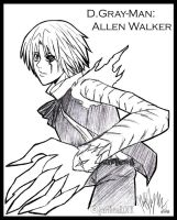 D.Gray-Man: Allen Walker by garibenROCK