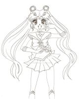 Sailor Moon Crystal - Line Art by SpazztasticFanGirl