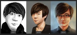 Self Portraits for 2007 2010 and 2014 by Jeffufu